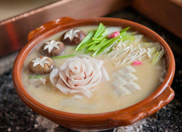 Kyoto Restaurant 'Hatakaku' - Botan Nabe (Wild Boar Hotpot) 京都畑かく 牡丹鍋