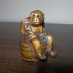 Netsuke-Monkey-Ape-Figurine-Boxwood-Japanese-Handcarved-Handmade-_57