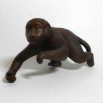 SIGNED-BIZEN-MONKEY-figurine-Japanese-vintage-art-pottery