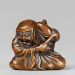 Lempertz_1061_716_Asian_Art_An_amusing_boxwood_netsuk